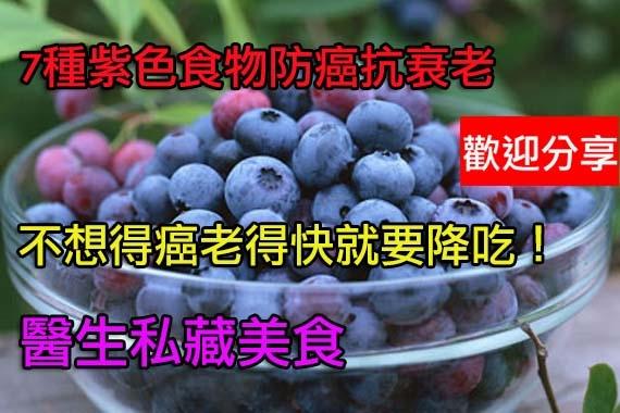 7種紫色食物防癌抗衰老藍莓還可改善眼睛視力...