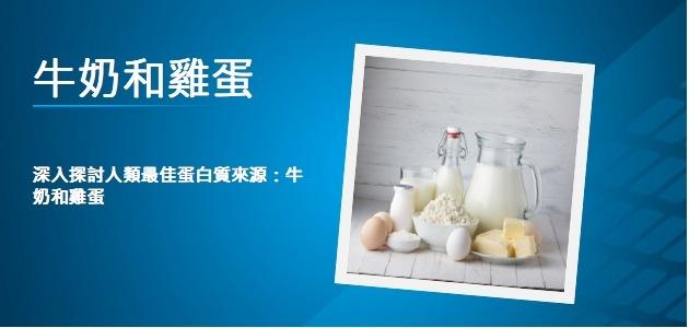最佳蛋白質來源:牛奶和雞蛋...