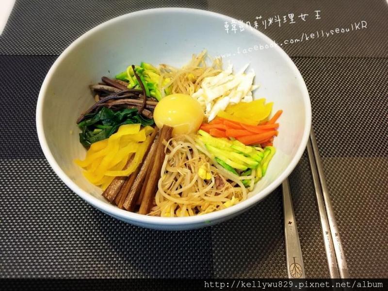 韓式拌飯(비빔밥)料理食譜,原來拌飯製作超簡單..........