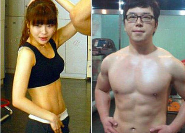 韓國情侶半年成功減掉80公斤變身辣妹猛男,超勵志!一定要轉給...