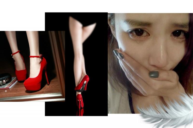 女人晚上回到家,看到門口紅色性感高跟鞋,她忍不住淚如雨下.....