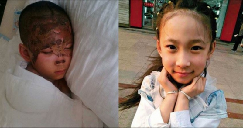 九歲小女孩為了救困在火災的外婆,奮不顧身衝進火場裡,用盡力氣...