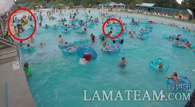 神救援!水上樂園幾百人,竟然只有救生員看見孩子正在溺水!反應...