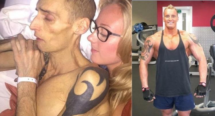 英國年僅39歲的健身達人,一個肌肉發達看起來非常健康的男人竟...