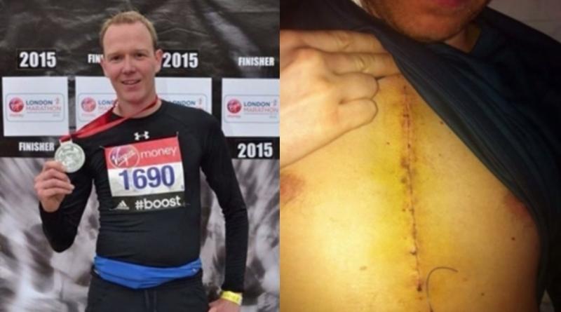一名熱愛跑馬拉松的男子在重要比賽前夕因為心臟病不得不手術,但...