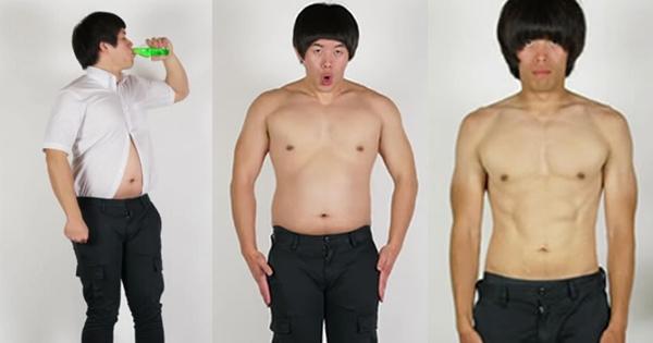 他從穿襯衫露肚皮的胖子變成了擁有完美腹肌的男人,居然是因為喝...