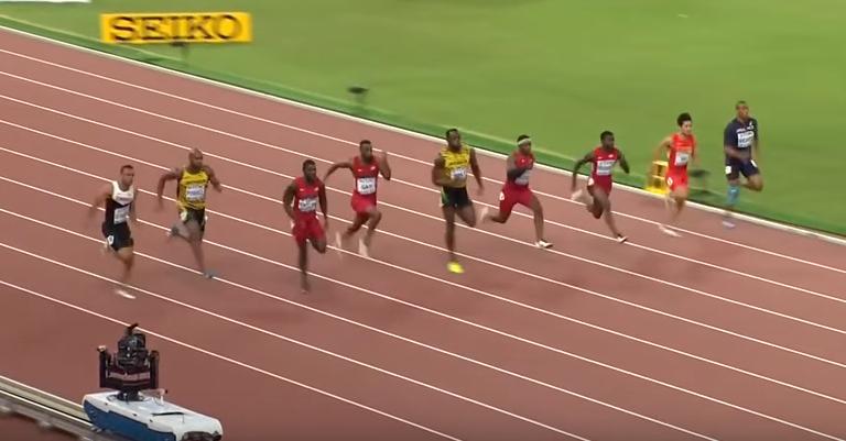 這個號稱「閃電」的男人在奧運上狠狠肆虐其他選手,觀眾們全看傻...