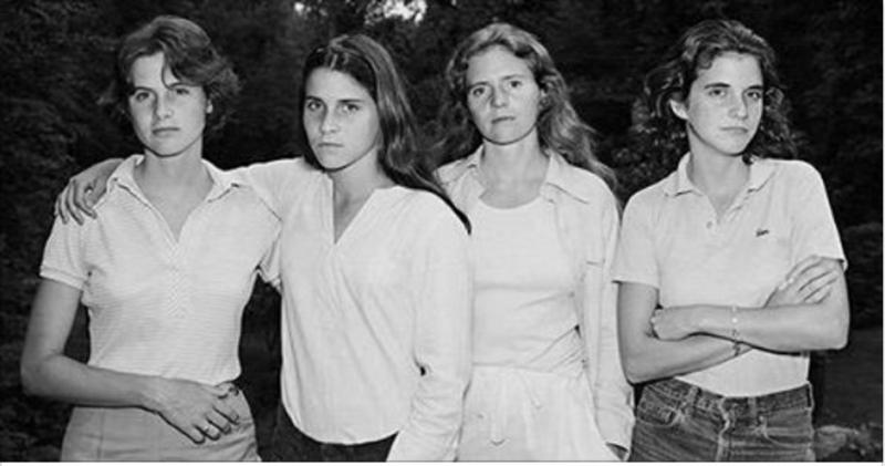 每年這四姊妹都會一起拍攝一張合照,40年後她們竟然出現了超神...