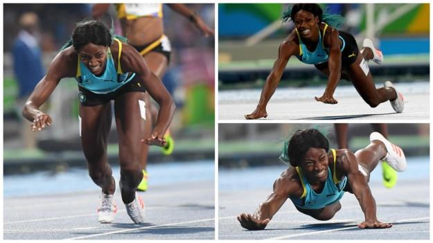 奧運比賽跌倒怎麼辦?巴哈馬田徑好手米勒為你示範如何飛撲奪金...