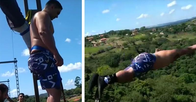 36歲爸爸帶全家玩「高空彈跳」,6歲兒子「下一秒」親眼看到此...