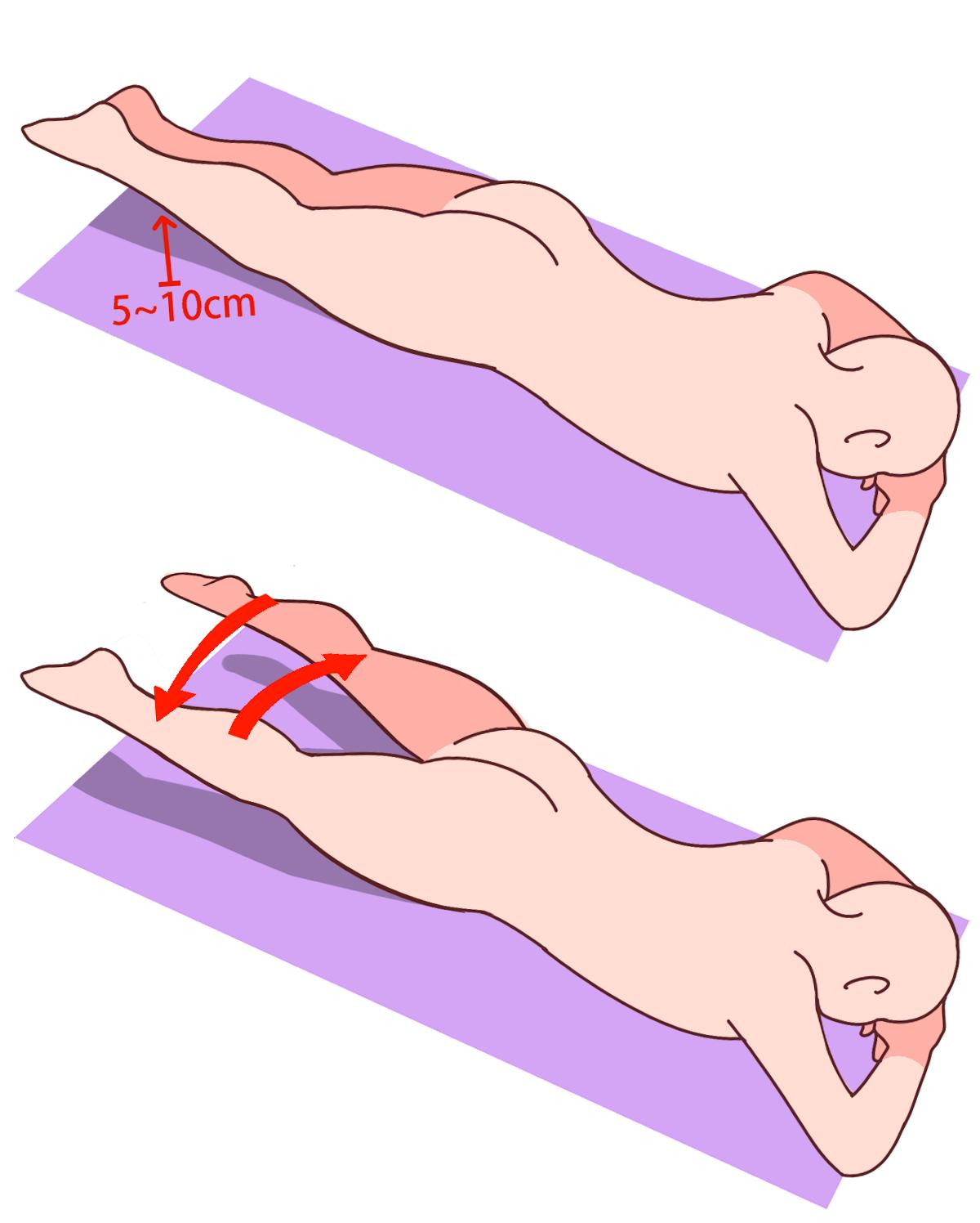 贅肉消失、驚見「大腿縫」!「神奇瘦腿術」每天只要3分鐘,躺在...