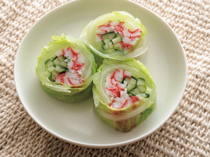 清爽的《蟹肉小黃瓜白菜捲》為外食族的您補充營養LIFE生活...