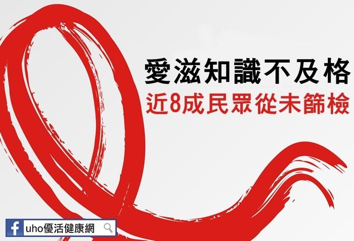 愛滋知識不及格近8成民眾從未篩檢...