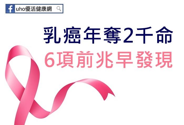 乳癌年奪2千命!6項前兆早發現...