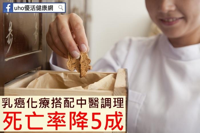 乳癌化療搭配中醫調理死亡率降5成...