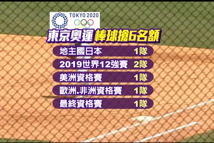 2020東京奧運棒球參賽6隊選拔辦法出爐...