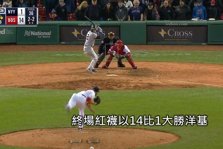林子偉精彩雙殺守備紅襪擊垮洋基奪9連勝...