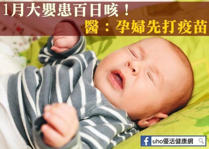 1月大嬰患百日咳!醫:孕婦先打疫苗...