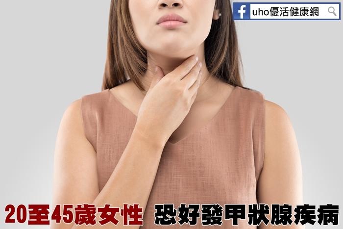 20至45歲女性恐好發甲狀腺疾病...