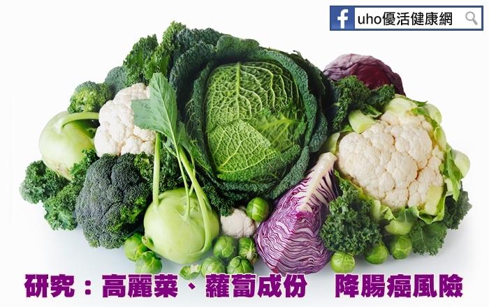 研究:高麗菜、蘿蔔成份降腸癌風險...